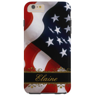 Stylish US Flag iPhone 6 Plus Custom Monogram Case