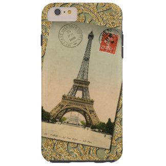 Stylish Vintage Chic Paris Eiffel Tower France Tough iPhone 6 Plus Case