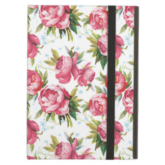 Stylish Vintage Pink Floral Pattern iPad Air Case