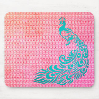 Stylish-Vintage-Rose-Weave-Peacock-Teal-Unisex Mouse Pad