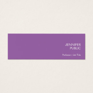 Stylish Violet Modern Professional Chic Simple Mini Business Card