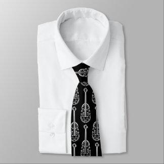 Stylish violin pattern tie