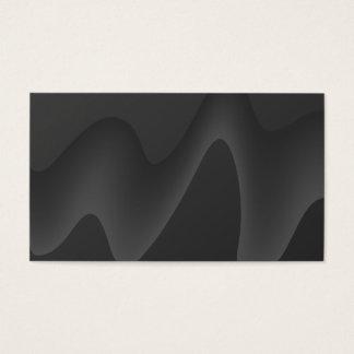 Stylish Wave Design in Dark Gray. Business Card