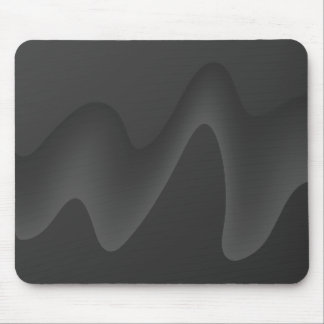 Stylish Wave Design in Dark Gray. Mousepads