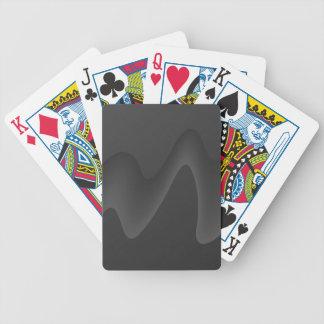 Stylish Wave Design in Dark Gray. Poker Deck