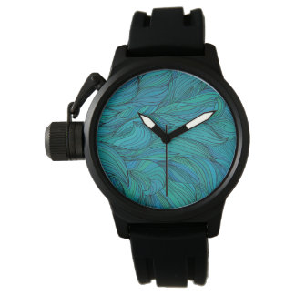 Stylish wavy design watch