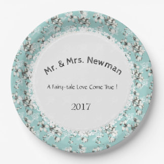 Stylish-Wedding--Anniversary-Template_Blue--Floral Paper Plate