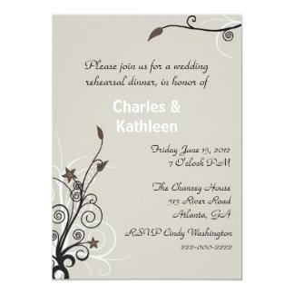 Stylish Wedding Rehearsal Invitation