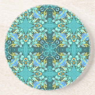 Stylish whimsical lux floral watercolor pattern beverage coasters