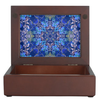 Stylish whimsical lux floral watercolor pattern memory box