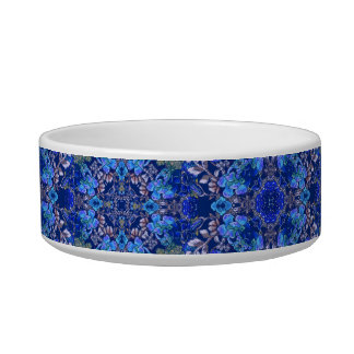 Stylish whimsical lux floral watercolor pattern pet food bowl