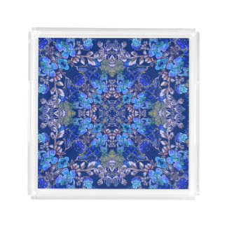 Stylish whimsical lux floral watercolor pattern serving tray