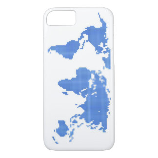 Stylish White and Blue World Map Phone Case