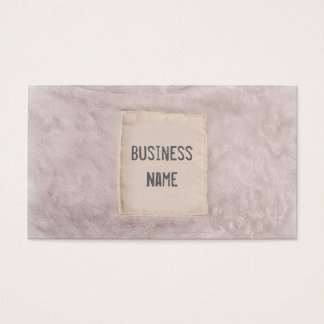 Stylish White Animal Fur Business Card