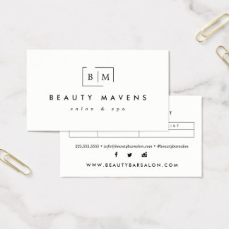 Stylish White Appointment Business Cards
