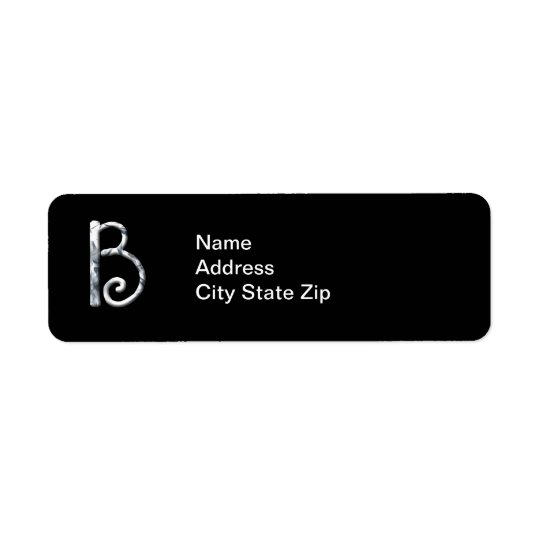Stylish White Monogrammed Label (B)