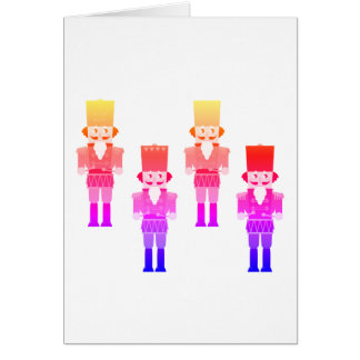 Stylish winter Tin soldiers characters / Pink Card
