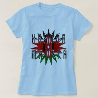 Stylish Women Basic Blue Jambo Kenya Hakuna Matata T-Shirt