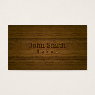 Stylish Wood Embossing Baker Business Card
