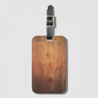 Stylish Wood Grain Woodgrain Wood Look Pattern Bag Tag