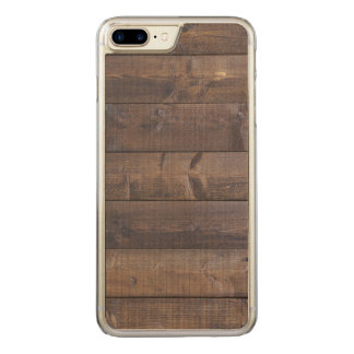 Stylish Wood Pattern - Nature Wood Grain Texture Carved iPhone 8 Plus/7 Plus Case