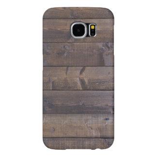 Stylish Wood Pattern - Nature Wood Grain Texture Samsung Galaxy S6 Cases