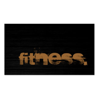 Stylish Wood Pattern Trainer Fitness Business Card