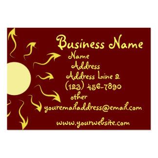 Stylish Yellow Sun Business Cards