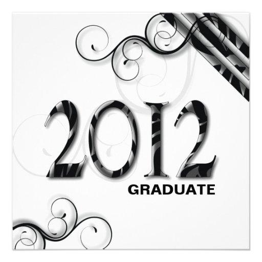 Stylish Zebra 2012 Grad Announcement / Invitation