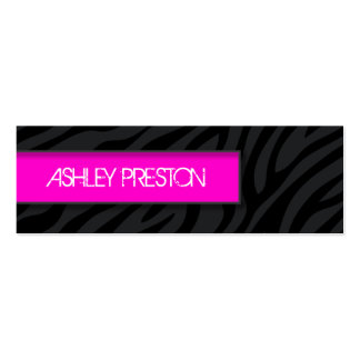Stylish Zebra Call Me Cards Pack Of Skinny Business Cards