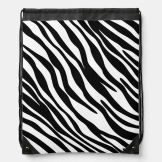 Stylish Zebra Print Drawstring Cinch Bag
