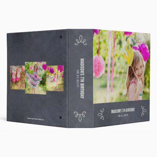 Stylishly Chalked All Purpose Photo Album 3 Ring Binder