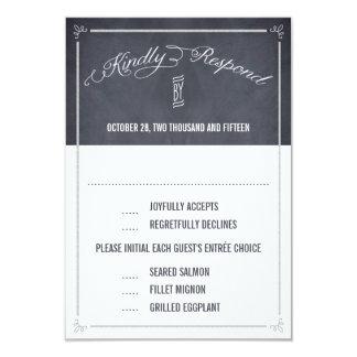 Stylishly Chalked Wedding Response / RSVP Cards