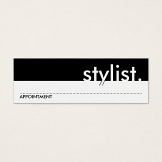 stylist. (appointment card) mini business card