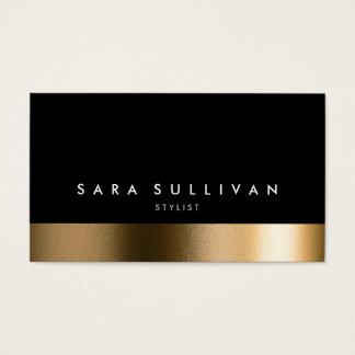 Stylist Bold Black Gold Business Card