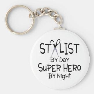 Stylist By Day Super Hero By Night Keychain