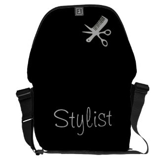 Stylist Design Silver on Black Commuter Bags