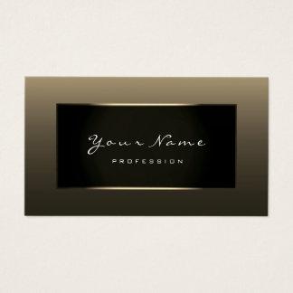 Stylist Fashion Blogge Champagne Faux Gold Black Business Card