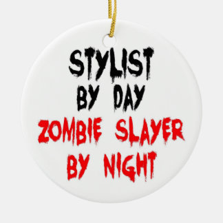 Stylist Zombie Slayer Ceramic Ornament