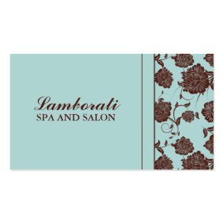 Styliste élégant de couturier de motif floral carte de visite standard