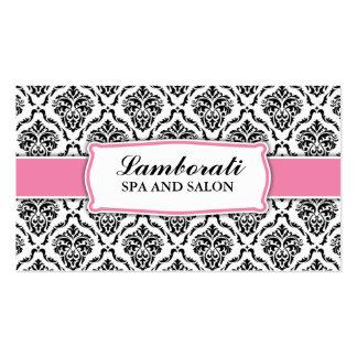 Styliste floral de motif de damassé élégante carte de visite standard