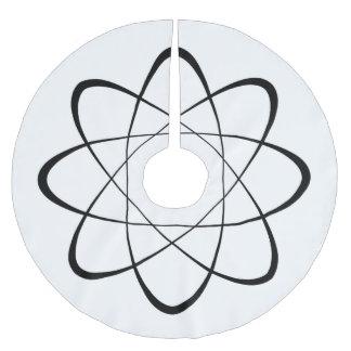 Stylized Atom Symbol Brushed Polyester Tree Skirt