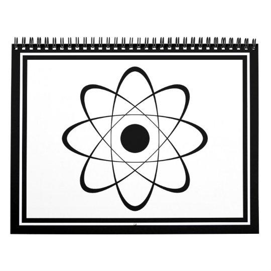 Stylized Atom Symbol Calendar