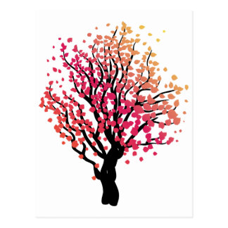 Stylized Autumn Tree 2 Postcard