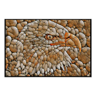 Stylized Bald Eagle Series - Number 5 Poster