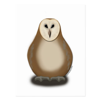 Stylized Barn Owl Postcard