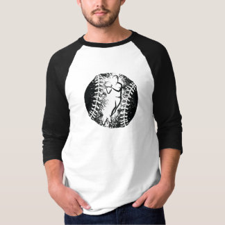 Stylized Baseball Throw with Grunge Background T-Shirt