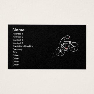 Stylized Bicyclist Design Business Card