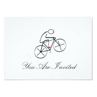 Stylized Bicyclist Design Card