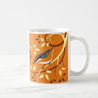 Stylized Bird Art - Nuthatch Coffee Mug